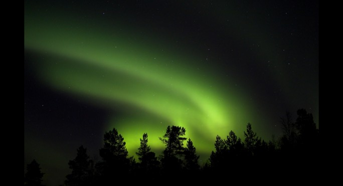 Aurea boreal retratada por Danny Green