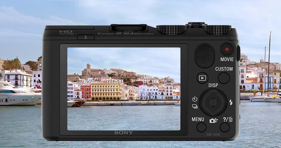 Nueva cámara fotográfica Cyber-shot™ HX50 / HX50V de Sony